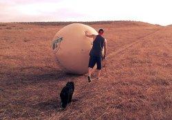 Двухметровое яичко как напоминание о пользе самообследования