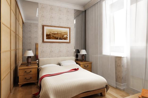 Узкая спальня. Как правильно заполнить пространство
